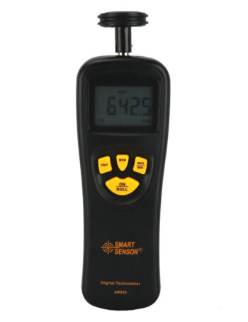 SMART SENSOR Digital Tachometer Contact Motor Tachometer RPM Meter digital Tach speedometer 0.05~19999.9mmin 0.5~19999RPM Smart Sensor AR925 HTB16c2qPVXXXXX7XXXXq6xXFXXXF (5) 1. All products with original packaging box, so that can protect the products well on the shipping way avoid damage. 2. Customs tax don't worry customs tax, we will declare lower value on bill and help customer avoid or reduce tax. 3. The product does not contain the battery because of the limitation of the airline company. 4. Warranty All units are with Retail box. and we offer Long warranty period of 2 years,in two years will repair for free. 5. Shipping Way if you need it faster, you can choose Aliexpress standard shipping,also have China post airmail ! HTB16c2qPVXXXXX7XXXXq6xXFXXXF (1) SMART SENSOR Digital tachometer (RPM gauge) is an instrument measuring the rotation speed of a shaft or disk, as in a motor or other machine. The device usually displays the revolutions per minute (RPM) on a digital displays. HTB16c2qPVXXXXX7XXXXq6xXFXXXF (3) Features 1. Applying the MCU and electrooptical technology, can perform contact measurement of rotating & linear rolling speed efficiently. 2. Wide measuring range and high resolution 3. Large LCD display 4. Automatically store for the MAX, Min and LAST value 5. Accessories convertible for differenet measurement 6. Equipped with convex channel lineal rate sensor, it is convenient for measuring the lineal rate of the wire, cable. ropes etc. 7. Low batery indication so you can know when need to charger the units 8. legant and easy to use. 9. Solid structure built with durable electronic elements and light ABS plastic house Specifications Measuring Range Rotate 0.5~19999RPM Linear 0.05~19999.9mmin 0.2~6560 ftmin Rotating Speed Resolution 0.1RPM (2.5~999.9RPM) 1RPM (Over 1000RPM) Linear Rolling Speed Resolution 0.01 mmin 0.05~99.99mmin) 0.1 mmin (Over 100 mmin) 0.1 ft (0.1~999.9 ftmin) 1 ftmin (Over 100 ftmin) Measuring Distance --- Accuracy ±(0.05%+1 digits